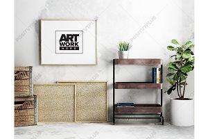 Minimal Landscape Poster Mockup
