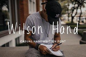 Wilson Hand font
