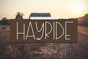 Hayride - Fun Handwritten Font