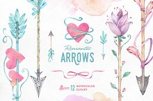 Romantic Arrows watercolor