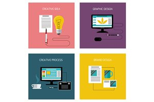 Set of Creative, Branding Graphic