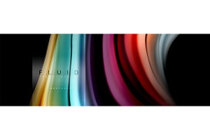 Fluid colors abstract background