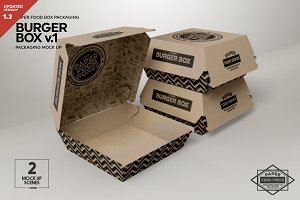 Burger Box Packaging Mockup v.1