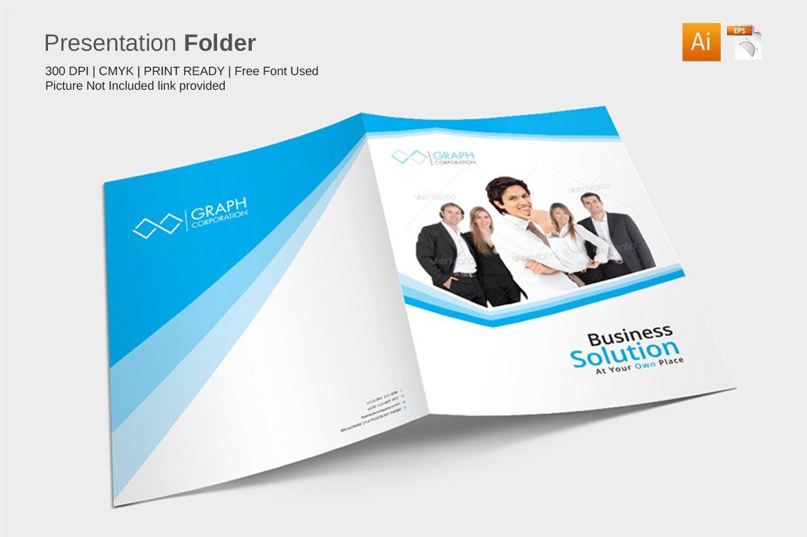 Presentation Folder Stationery Templates Creative Market