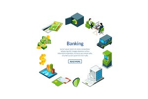 Vector isometric money flow in bank