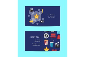 Vector cinema business card template