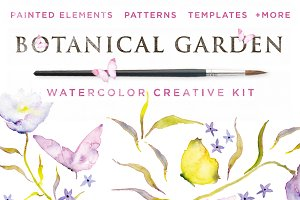Botanical Garden Watercolor Kit