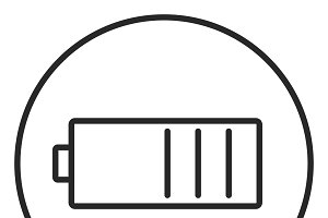 Battery stroke icon, logo