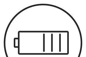 Battery stroke icon, logo