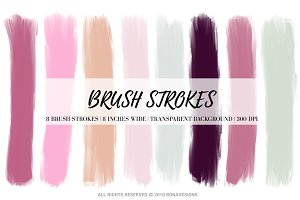 Pastel Brush Strokes Clipart
