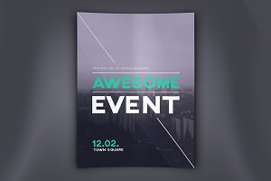 Awesome Event Flyer PSD Template