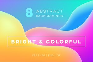8 bright & colorful backgrounds