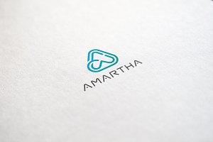 Modern Letter A Logo