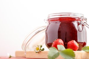 Traditional strawberry jam