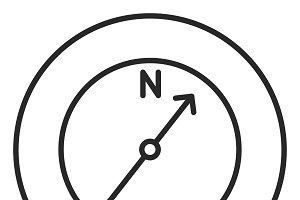 Compass stroke icon, logo
