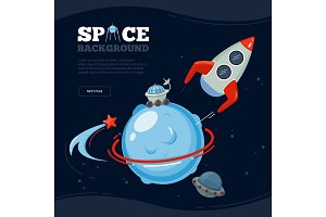Space travel background. Science