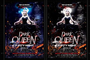 Dark Queen Halloween Flyer