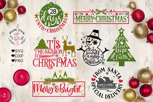 Merry Christmas Cut File Bundle