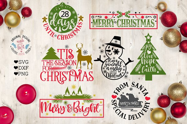 Get Merry Christmas Snowman Cut File Design