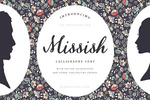 Missish Calligraphy Font + Extras