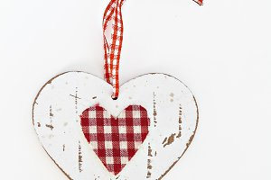 wooden heart in the style shabby iso