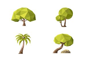 Low Poly Vector Tree