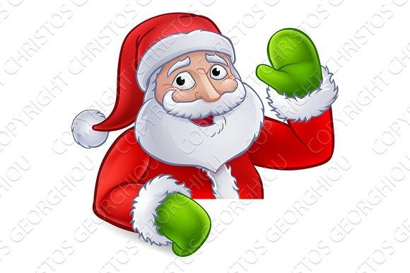 94b9628220 Santa Claus Christmas Cartoon ~ Illustrations ~ Creative Market