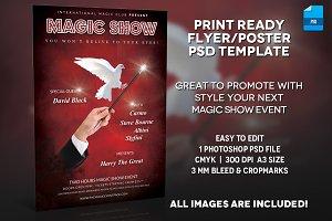 Magician Poster Print Template v.3