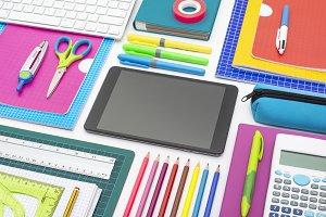creative school tablet design header