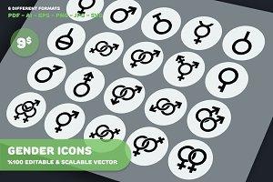 Gender Icons - Circle