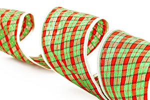 Green decorative packing tape isolat
