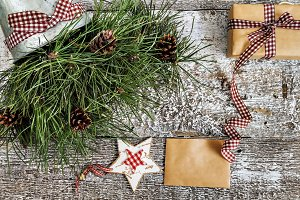 pine branches and cones, craft gift
