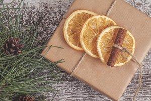 pine branches, craft gift, dried ora