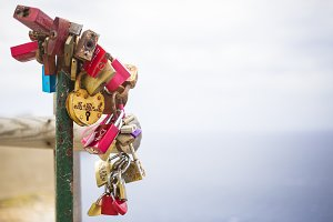 Colorful love locks