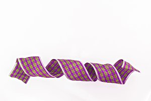 purple decorative wrapping tape isol