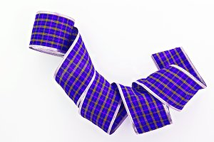 violet decorative wrapping tape isol