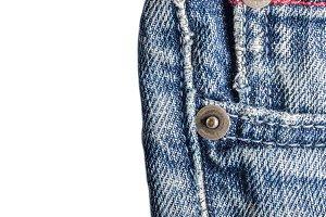 Jeans close-up, old, pocket back, fr