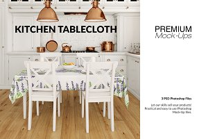 Tablecloth & Kitchen Mockup Set