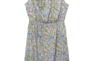 Summer dress with a butterfly patter