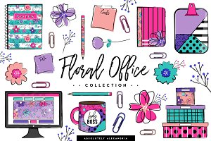 Floral Office Illustrations/Patterns