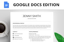 Resume Template, CV, Google Docs