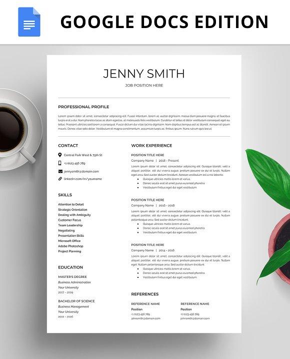Resume Template Cv Google Docs Creative Resume Templates