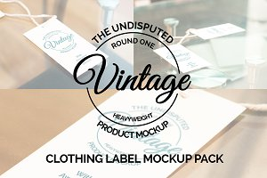 Clothing Label Mockup Pack