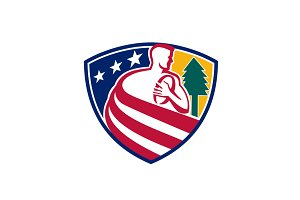 American Rugby Union Player Badge