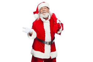 Christmas. Santa Claus is suffering