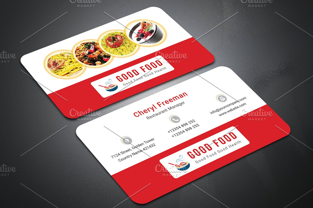 Restaurant Business Card Business Card Templates