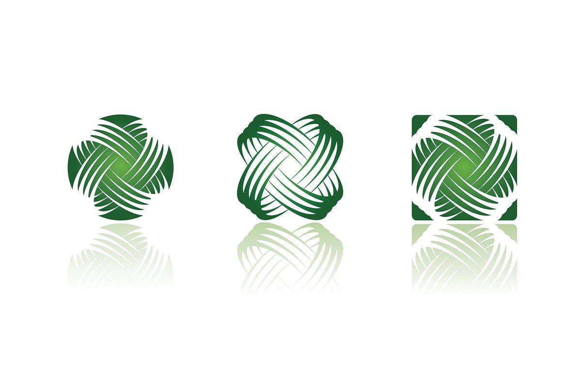 Vitality Conceptual Icon Logo Series