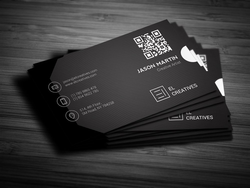 Dark Corporate Business Card Business Card Templates
