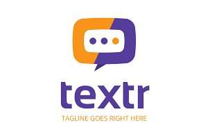 Textr Chat Logo Template