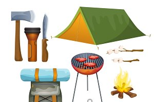 Summer vacation camping accessories